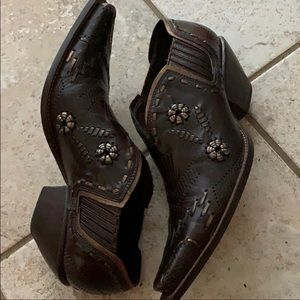 BCBGirls Leather Western Booties